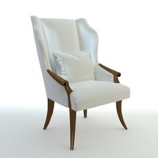 Wingback Italian Armchair 3D Model