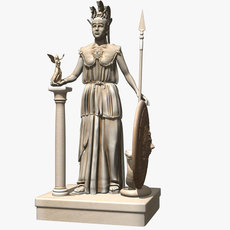 Statue of Athena 3D Model