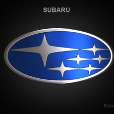 Subaru 3d Logo 3D Model
