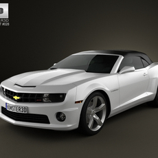 Chevrolet Camaro 2SS RS Convertible 2011 3D Model