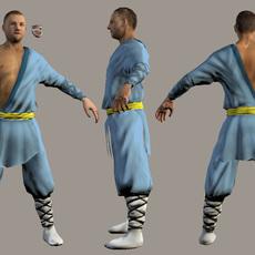 Martial arts Fighter 3D Model
