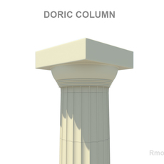 Greek Column Doric 3D Model