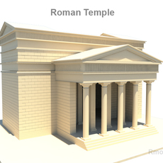 Roman Temple 3D Model