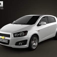 Chevrolet Aveo 5 door 2011 3D Model