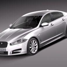 Jaguar XF 2013 3D Model