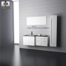 Bathroom furniture 09 Set 3D Model