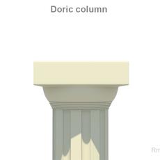 Greek Doric Short Column 3D Model