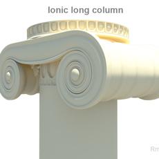 Greek ionic long column 3D Model