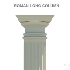 Roman long column 3D Model