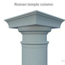 Roman Temple column 3D Model