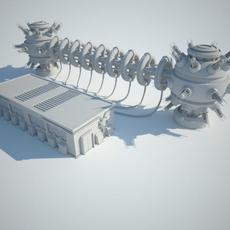 Sci Fi Building 13 3D Model