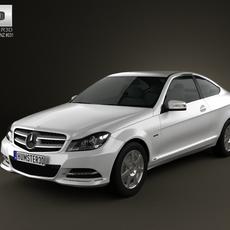 Mercedes-Benz C-class coupe 2012 3D Model