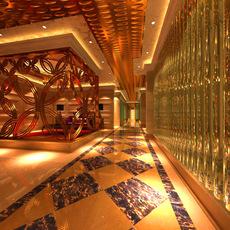 Corridor spaces 014 3D Model