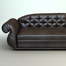 Leather Sofa 2 3D Model