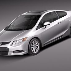 Honda Civic 2012 usa coupe 3D Model