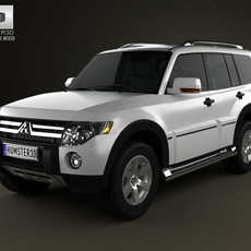 Mitsubishi Pajero Wagon 5door 2009 3D Model
