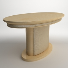 Photorealistic Oval Pedestal Table 3D Model