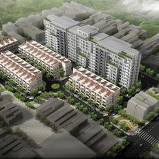 3D Model Detailed Cityscape 3D Model