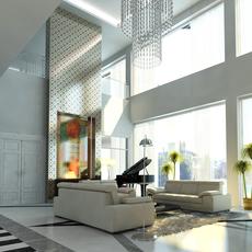 Photoreal Luxury House Interior 3D Model