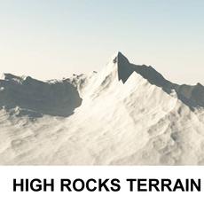 3d Terrain High Rocks 3D Model