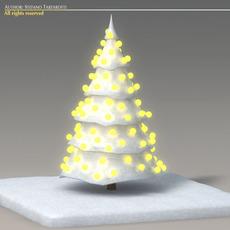 Toon snow tree 3D Model