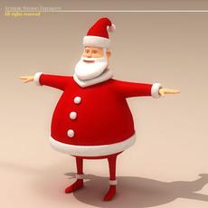 Santa Claus Cartoon Character 3D Model
