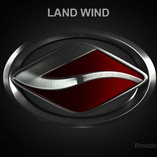 Land Wind 3d Logo 3D Model
