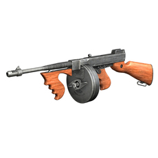 Thompson Model 1928 Submachine Gun 3D Model