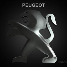 Peugeot 3d Logo 3D Model