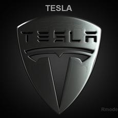 Tesla 3d Logo 3D Model