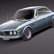 BMW 3.0 CSL 1968-1975 3D Model
