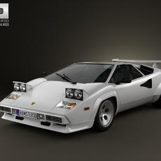 Lamborghini Countach 5000 QV 1985 3D Model