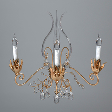 Antique Detailed Sconce Light 3D Model