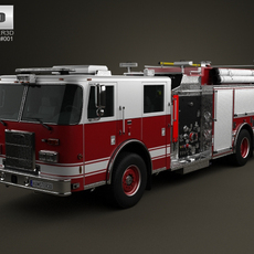 Pierce Fire Truck Pumper 2011 3D Model