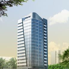 3D Model Skyscraper Bank Building 3D Model