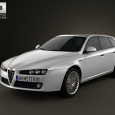 Alfa-Romeo 159 Sportwagon 2011 3D Model