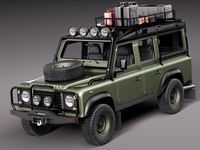 Land Rover Defender Expedition 3D Model
