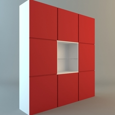Contemporary Display & Storage Unit 3D Model