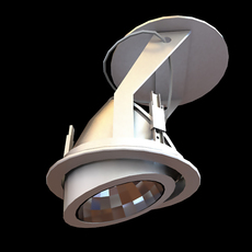 Medical or Industrial Ceiling Light 3D Model