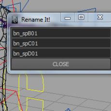 AJ Renamer Tool for Maya 1.0.0 (maya script)