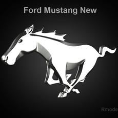 Mustang 2010 3d Logo 3D Model
