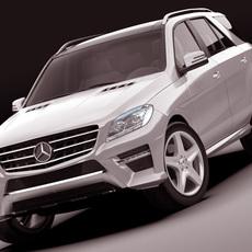 Mercedes M class AMG package 3D Model