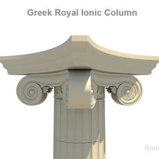 Greek ionic royal column   3D Model