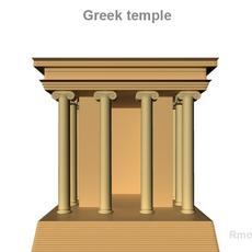 Greek Small Temple 3D Model