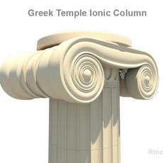 Greek ionic temple column 3D Model