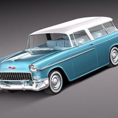 Chevrolet Bel Air Nomad 1955 3D Model