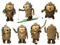 Olympic mascot Quatchi 3D Model