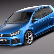 Volkswagen Golf VI 2012 3door 3D Model
