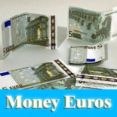 3D Model 5 Euro Paper Money 3D Model