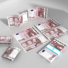 3D Model 10 Euro Paper Money 3D Model